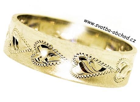Snubní prsten A23 - žluté zlato,