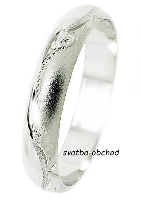Snubní prsten A24 - stříbro,