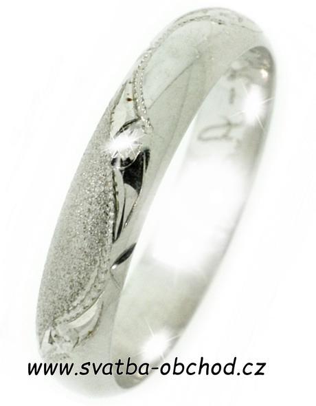 Snubní prsten A24 - zlato bílé,