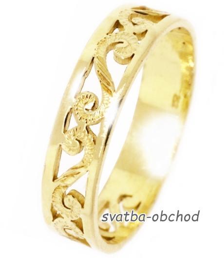 Snubní prsten A5 - žluté zlato,