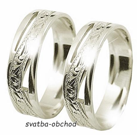 Snubní prsten A6 - stříbro,