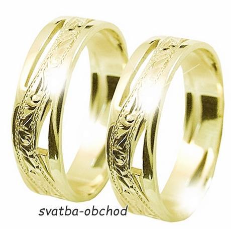 Snubní prsten A6 - žluté zlato,