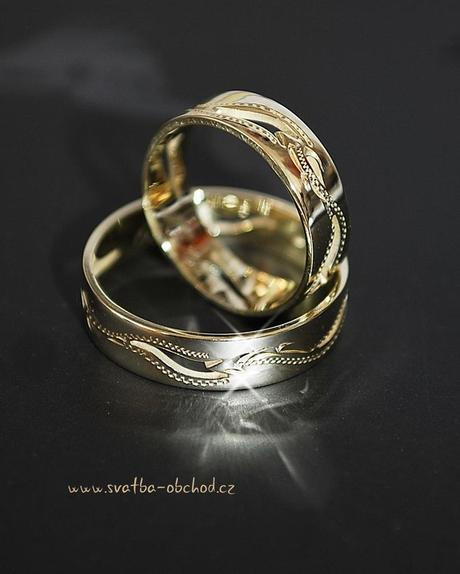Snubní prsten A7 - stříbro,