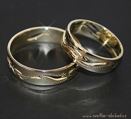 Snubní prsten A7 - žluté zlato,