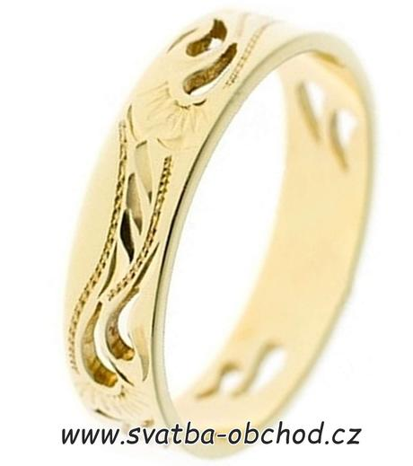 Snubní prsten A8 - stříbro ,