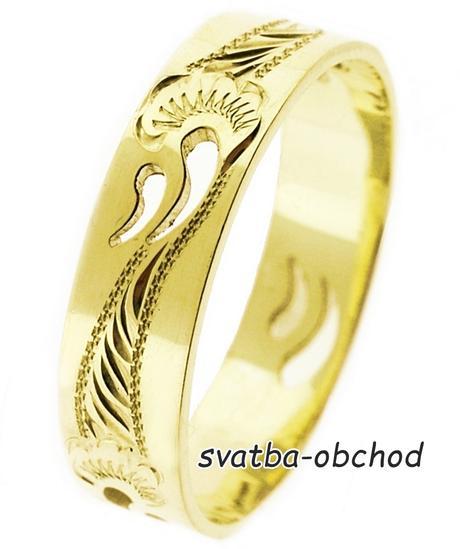 Snubní prsten A8 - žluté zlato,