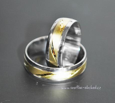 Snubní prsten B52 - zlato bílé-žluté,