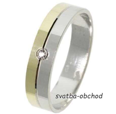 Snubní prsten B65 - zlato + 1x zirkon,