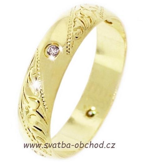 Snubní prsten K5 - stříbro,