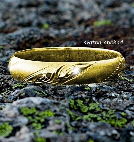 Snubní prsten P4R15 - žluté zlato,