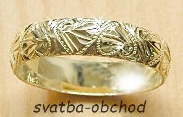 Snubní prsten P5R8 - stříbro,