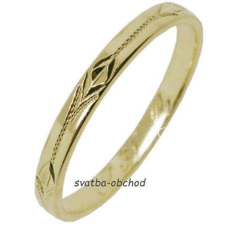 Snubní prsten S31R - žluté zlato,