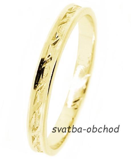 Snubní prsten U2R1 - žluté zlato,