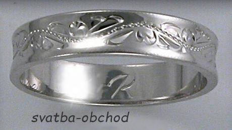 Snubní prsten U4R1 - bílé zlato,