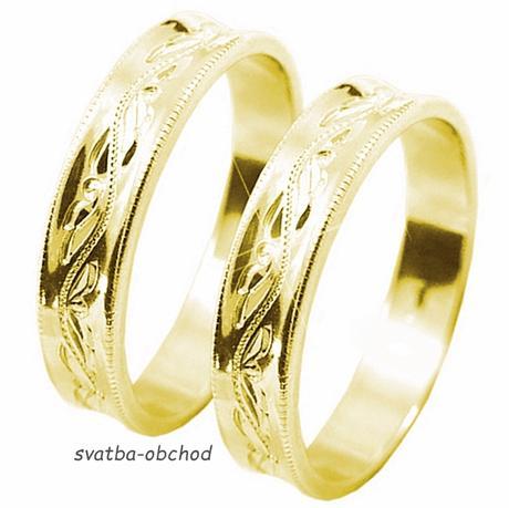 Snubní prsten U4R1 - žluté zlato,