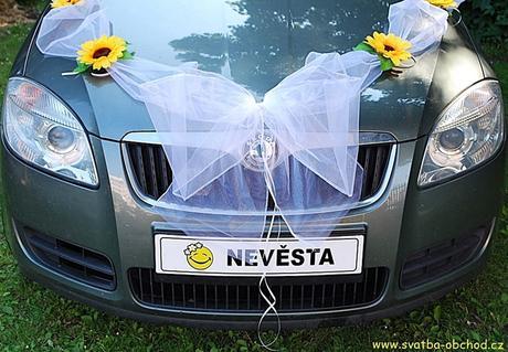 SPZ - smajlík - nevěsta,