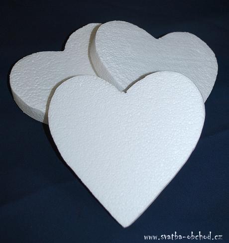Srdíčko - polystyren (č.04 ),