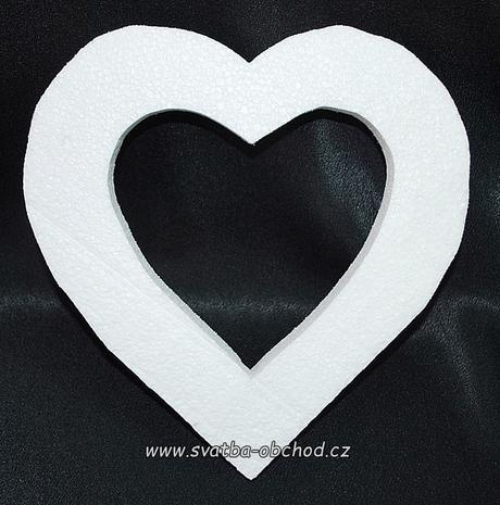 Srdíčko - polystyren (č.05),