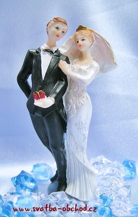 Štíhlá figurka na svatební dort (č.29),
