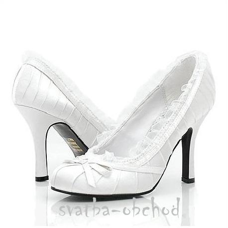 Svatební botičky - bílé (č.11), 39