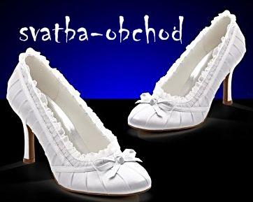 Svatební botičky - bílé (č.11), 40