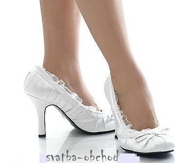 Svatební botičky - bílé (č.11), 41