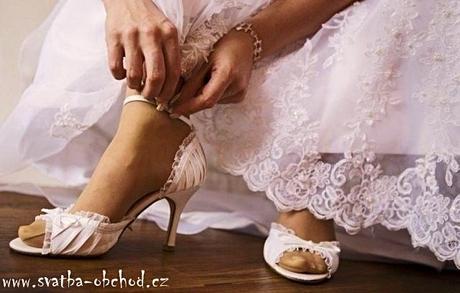 Svatební botičky saténové - šampáň (č.12), 40