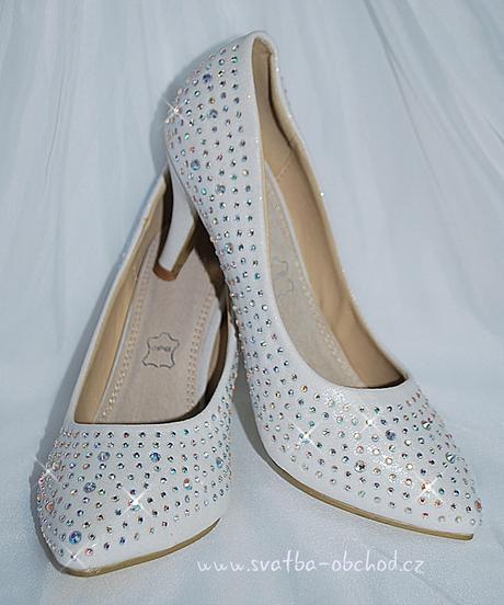 Svatební botičky se štrasy (č.35), 36
