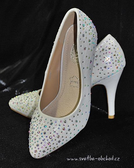 Svatební botičky se štrasy (č.36), 40