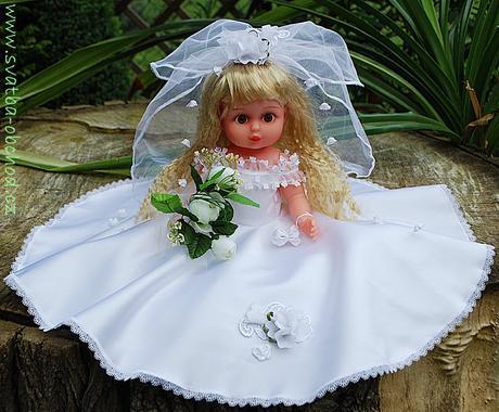 Svatební panenka (č.16) - na objednávku ,