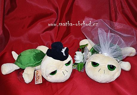 Svatební želvičky zelené 01 velké,