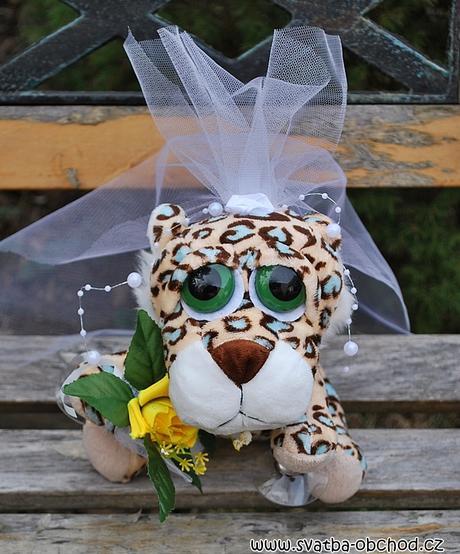 Tygříci na svatební auto - velcí,