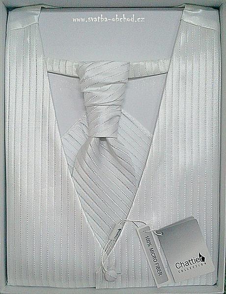 Vesta + regata + kapesníček - bílé (č. 101), 60