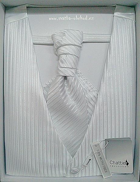 Vesta + regata + kapesníček - bílé (č. 102), 60