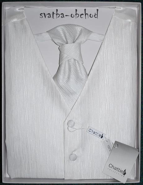 Vesta + regata + kapesníček - bílé (č. 106), 56