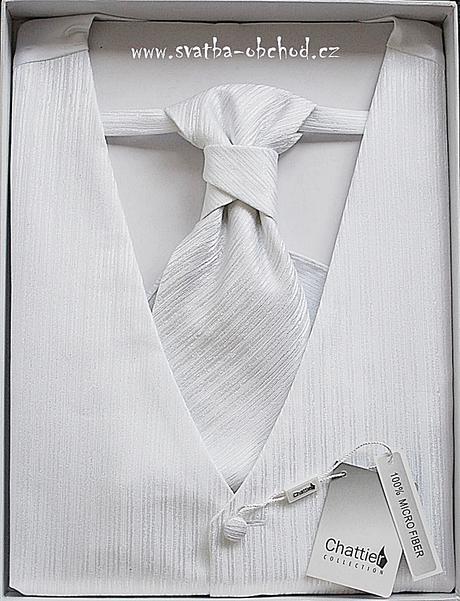 Vesta + regata + kapesníček - bílé (č. 126), 56