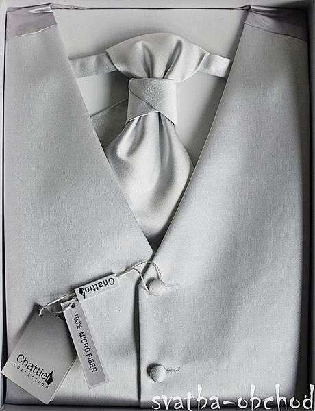 Vesta + regata + kapesníček - stříbrné (č. 402), 52