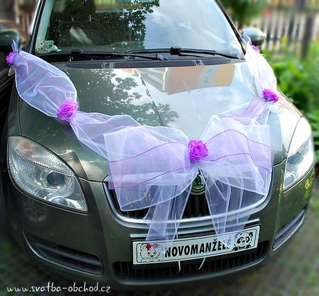Výzdoba na auto - do fialova,