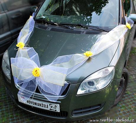Výzdoba na auto - do žluta,