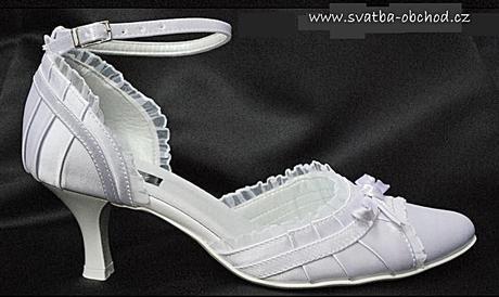 Zářivě bílé saténové botičky (č.13), 38