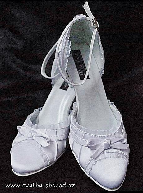 Zářivě bílé saténové botičky (č.13), 40