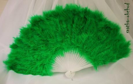 Zelený péřový vějíř(č. 08),