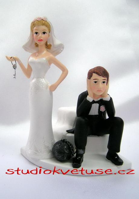 Žertovná figurka na svatební dort - Wilton,