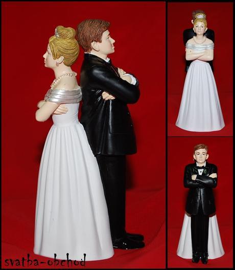 Žertovná figurka na svatební dort - Wilton ,
