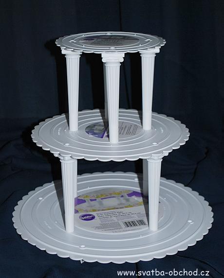 Značkový stojan na dort - řecké sloupky,