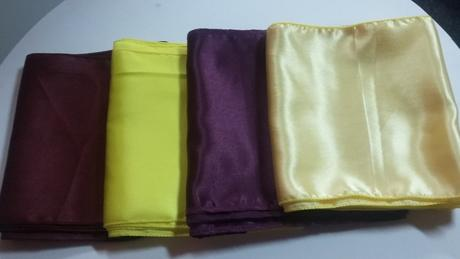 Tyrkysové saténové štoly + mašle aj iné farby,