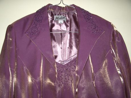 spoločenský kostým-šaty a sako, 46