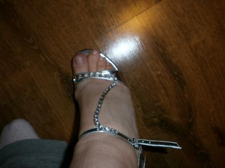 nenosene sandalky s retiazkou, 39