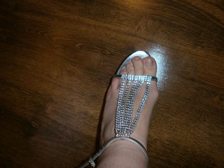 strieborne sandalky, 39