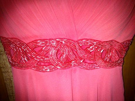 Lososové krátke spoločenské šaty, 36
